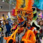 Chinelos en los carnavales de Cuernavaca