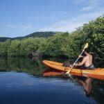 Andar en kayak en lagos y lagunas de México