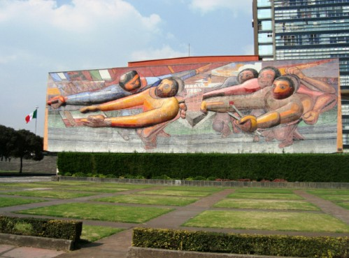 Mural de Siqueiros en la UNAM