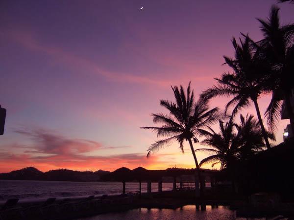 Puesta de sol en Isla Navidad