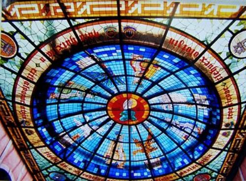 Imponente vitral en el Palacio Legislativo de Tlaxcala