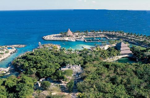 El parque ecologico Xcaret en Yucatan