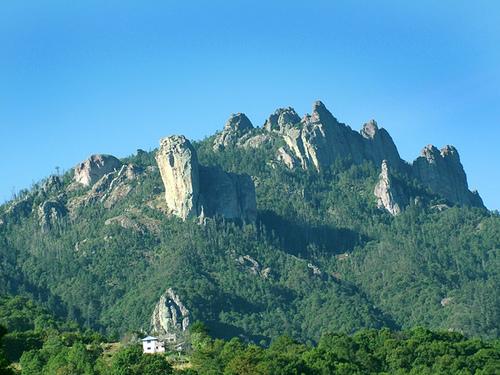 Ruta de la montaña en el centro de México
